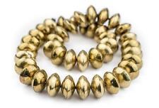 Ethiopian Brass Saucer Beads 24mm African 24 Inch Strand Handmade