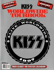 KISS 1997 ALIVE WORLDWIDE CONCERT TOUR PROGRAM BOOK / GENE SIMMONS / NMT 2 MNT