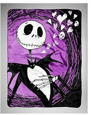 NIGHTMARE BEFORE CHRISTMAS FLEECE BLANKET JACK SKELLINGTON SUPER PLUSH THROW NWT