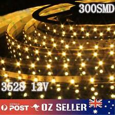 Waterproof Flexible 12V 5M 3528 300 SMD Warm White LED Strip Light DRL Car Boat