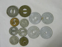 Mix Lot of 12 Transit and Tax Tokens