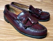 BASS LOAFERS TASSEL BURGUNDY LEATHER MENS DRESS SHOES SIZE 8.5 D