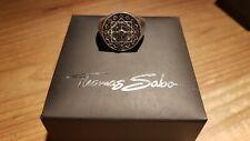 "Thomas Sabo Siegelring ""Vintage Kompass"", 925er Silber, Gr. 56"