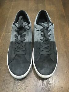 Tods Mens Grey Suede Sneaker Shoes Size 11 Very Good Condition