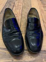 SALVATORE FERRAGAMO Black Leather Loafers Shoes Size 8 D