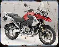 Bmw R1200Gs 11 3 A4 Metal Sign Motorbike Vintage Aged