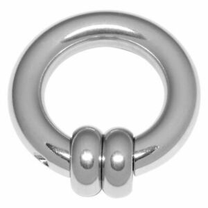 7 x 22mm Surgical Steel Spinning Wheel Ring ~ Extreme Piercing, Prince Albert