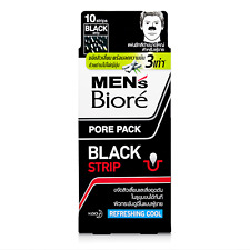 10 Strips Men's Biore Pore Pack Nose Peel-Off Blackhead Remover Charcoal Cool