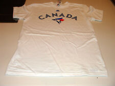 Toronto Blue Jays New Logo MLB Baseball CANADA White T Shirt Tee XXL Majestic