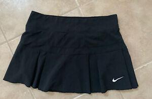 NEW Nike Dri-Fit Court Victory Pleated Black Small Tennis Skirt