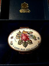 "Halcyon Days ""I Love But You Alone"" Trinket Box"