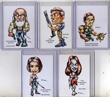WALKING DEAD TV SERIES SET #2 (5 CARDS) ART PRINTS DARYL SKETCH SHANE WALKER RAK