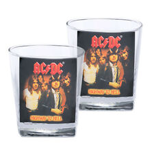 ACDC Band Highway to Hell Spirit Glasses Set of 2 Drinking Bar Man Cave Gift