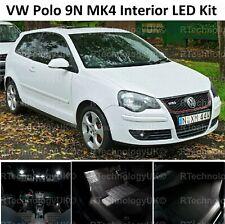 PREMIUM VW POLO MK4 9N 2001-2009 INTERIOR LED UPGRADE WHITE KIT XENON LIGHTS
