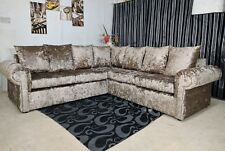 Large Corner Glp Sofa In Crushed Velvet Gold Also Available Diffe Color