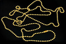 """Fashion Necklace Dog Tag Ball Chain Pendant 36"""" - Gold - 2.4mm Bead"""