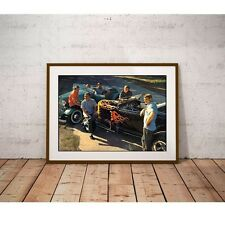 The Astronauts Surf Band Poster - 1932 Ford Hot Rod Roadsters Boulder Colorado