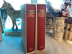 Library of America Washington Irving Lot of Two Volumes w Slipcases