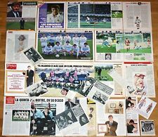 REAL MADRID 1980s lote prensa Quinta del Buitre clippings Butragueño football