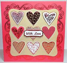 "Kanban Anniversary 8x8"" Die Cut Decoupage Card Making Craft Kit  Inc Toppers"