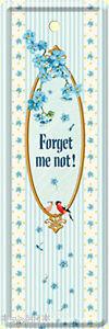 Nostalgic Art Forget Me Not - Vergiß Mich Pas Signet De Tôle 15 x 5
