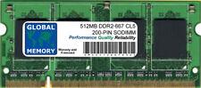 512mb DDR2 667mhz pc2-5300 200 pines SODIMM Memoria RAM para portátiles/Netbooks