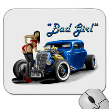 1934  - 1936     FORD HOTROD COUPE  BAD GIRL  MOUSE PAD  ( 4 CAR COLOURS)