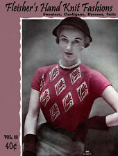 Fleisher's #88 c.1950 Hand Knitting Sweaters Cardigans Dresses & Suits for Women
