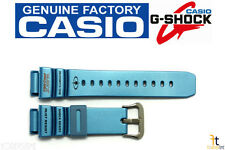 (Glossy) Rubber Watch Band Strap Casio G-Shock G-9100Tc-2 21mm Original Blue