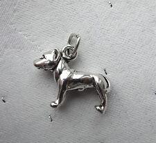 BULL TERRIER DOG 3D CHARM 925 STERLING SILVER