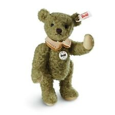 Steiff BUBI 2015 Event Teddy Bear 8.26 in (21cm)  EAN 421334 OLIVE GREEN MOHAIR