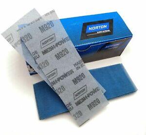 Norton MeshPower Ceramic Hook and Loop Sanding Strips Blocks 70x198mm DUST FREE