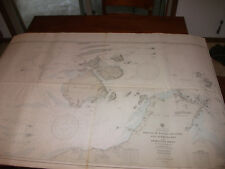 Vintage Nautical Maritime Chart ( Prince of Wales Channel & Approach Australia )