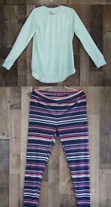 New Woman's Climate Right By Cuddl Duds Crew Neck And Leggings 2PC Set RWHD-9