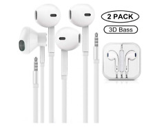 (2 PACK)For Apple iPhone 6S 6 5 5S Wired 3.5MM Jack Headphones Earbuds Headset