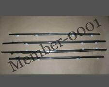 Window Door Belt Weatherstrip Rubber Chrome for Toyota Corolla AE100 101 EE100