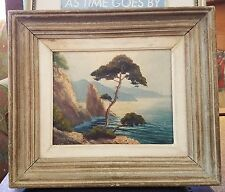 ANTIQUE FRENCH OIL ON CANVAS by NORMAND-ROCKS NEAR ST. TROPEZ-FREE USA SHIP