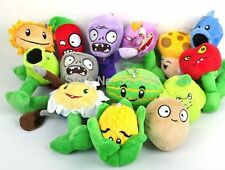"10 sets/140 pcs 5"" Plants VS Zombies Soft Plush Toy With Sucker A full set of 14"