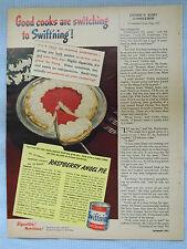1949 Magazine Advertisement Page Swift Swift'ning Shortening Raspberry Pie Ad