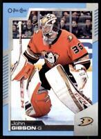 2020-21 UD O-Pee-Chee Blue Border #304 John Gibson - Anaheim Ducks