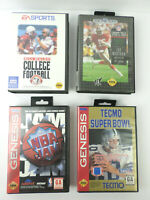 4 SEGA Genesis Sports Tecmo; NBA Jam; Sports Talk 93; Bill Walsh College LOT H