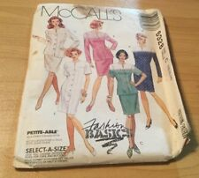 Mccalls Patterns - Misses One or Two-Piece Dresses - SZ- 10-12-14