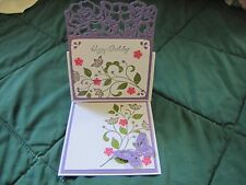 Pop up Flower Flourish Congratulations Birthday Card Kit w/Some Stampin Up