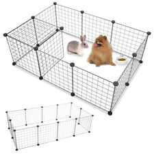 New listing 12 X Metal Panels Small Dog Cat Pets Playpen Wire Yard Crate Fence Portable Cage