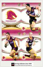 2007 Select NRL Invincible Trading Cards Base Team Set Broncos (12)