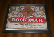 Iroquis Bock Beer Framed Color Ad Print - Buffalo, New York