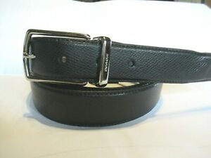 """NWT Gift COACH Reversible 1 1/8"""" Leather Belt Black/Brown SZ 42 CUT TO SIZE B588"""