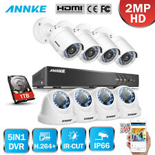 ANNKE 3MP 8CH HD 5in1 DVR 2MP IR Outdoor P2P Home Security Camera System 1TB APP