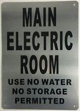 Electric Room Sign 10x14 Rust Free Aluminium