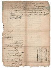1800 justice manuscript document damaged oncial signature ORIGINAL